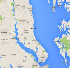 maps of the chesapeake bay rivers and access points