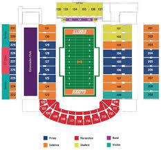 Illinois Seating Chart Football Illinois Football Stadium Seating Chart Google Search