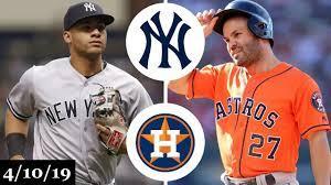 New York Yankees vs Houston Astros ...