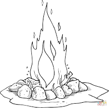 Small Picture Campfire coloring page Free Printable Coloring Pages
