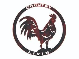 the country rooster cut out metal wall sculpture yhst 23119701400359 2139 63696118 on large metal rooster wall art with creating a country kitchen with metal wall art metal wall art blog