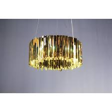 polished bronze metal modern chandelier ceiling light