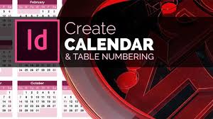 Designing A Calendar In Indesign Create Calendars Table Numbering In Indesign