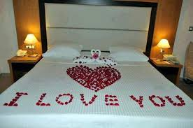 romantic bed decoration for wedding
