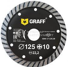 <b>диск</b> алмазный турбо <b>graff</b> по бетону и камню 125x10x2.0x22 ...