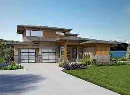 contemporary prairie house plan 7474