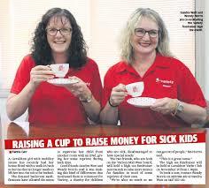 RAISING A CUP TO RAISE MONEY FOR SICK KIDS - PressReader