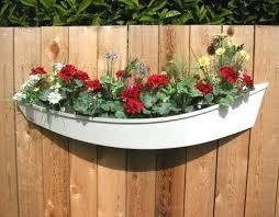 boat planter wood fence design