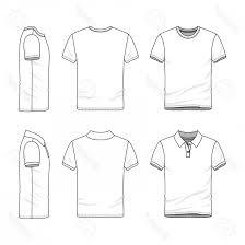 Photostock Illustration Male Clothing Set Blank Vector Templates Of