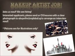 makeup artist job hiring new urgent