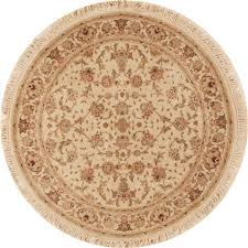 sino persian beige round hand knotted 4 0
