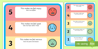Spanish Feelings Chart Feelings Trigger Poster English Spanish Feelings Trigger