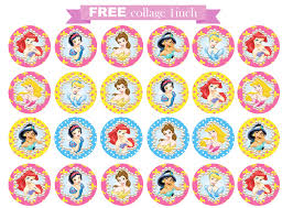 printable invitation disney princess collage circle printable invitation disney princess collage circle 1inch