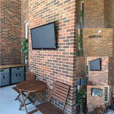 medium size of mounting flat screen tv over brick fireplace audio visual home automation fort mill