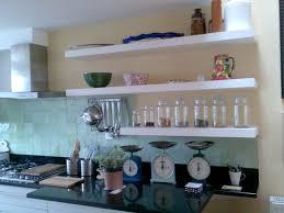 Small Picture Kitchen Serene White Wall Mounted Kitchen Shelves On Backsplash
