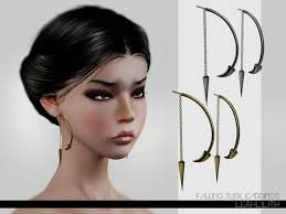 Falling Tusk Earrings by Leah Lillith - Sims 3 Downloads CC Caboodle |  Sims, Sims 3, Sims 4 cc finds