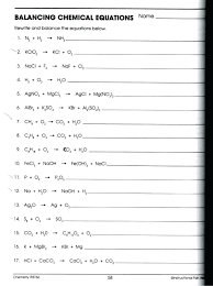 law balancing chemical equations chart conservation of mass worksheet answers visualizing the matter practice problems