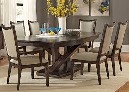 Rubberwood Kitchen Table Pedestal Dining With Solids Rubberwood And Charcoal Finish