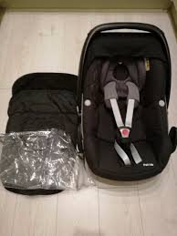 maxi cosi pebble car seat with rain cover and foot