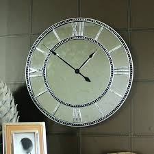 large mirror clocks for walls uk inspiring mirrored wall clock iron round with photo extra large mirror clocks for walls uk modern wall