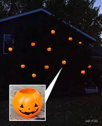 Diy Halloween Light Show Diy Halloween Lights Solar Lights Pumpkin Pails