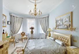 Luxury Bedroom Interiors Classic Style Luxury Bedroom Interior In Blue Colors With Boudoir