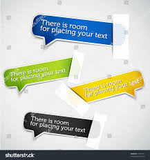 Colorful Set Paper Labels Realistic Paper Stock Vector 75181471