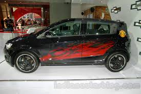 Chevrolet Aveo Manchester United Edition side at the 2014 ...