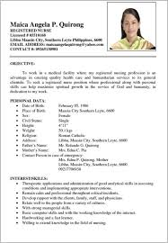 Example Of Simple Filipino Resume Filename Reinadela Selva