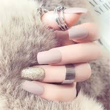 o new 24pcs pure color decoration artificial false fake nail art tip 2g glue