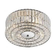 err5250 errol 4 light modern crystal ceiling light semi flush polished chrome finish