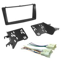 popular toyota corolla wiring harness buy cheap toyota corolla double din fascia for toyota corolla wiring harness headunit radio cd dvd stereo panel dash