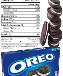 oreo cookies nutrition facts house cookies with regard to food labels for oreos