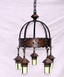 rare stickley era onondaga 5 light chandelier
