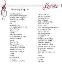 Wedding Song Playlist List Of Wedding Songs Wedding Ceremony Music Playlist