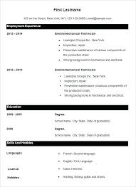 Template For Basic Resume Easy Resume Template Free Free Easy Resume