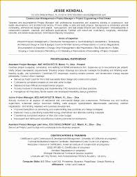 Resume Templates For Construction Cool Assistant Project Manager Resume Fresh Fresh Construction Project