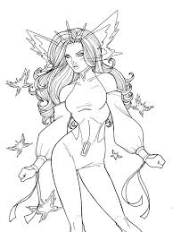 Psylocke Butterfly Comic Colouring Page Psylockejessica