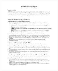 10+ Store Manager Job Description Samples | Sample Templates