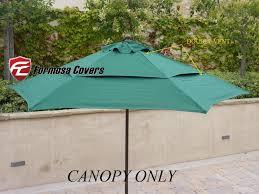 best patio umbrella replacement canopy double vented replacement umbrella canopy for 9ft 6 ribs market home decor photos