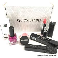 wantable makeup august 2016 subscription box review