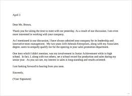Thank You Letter For Job Interview Template Sample Thank You Letter