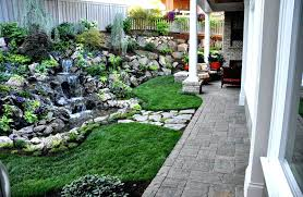 Designer Backyards Cool Within Rock Garden Designs For Front Yards Small Ideas Yard Design