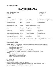 Acting Resume Template Classy Actors Resume Template Fresh Actor Resume Template Sample Resume