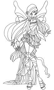 Winx Club Harmonix Coloring Pages Musa