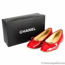 chanel uk. chanel red patent flats - uk 5.5 uk