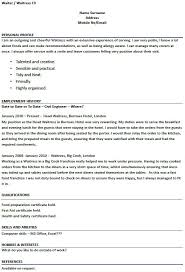 modern design waitress resume example cover letter examples for waitress