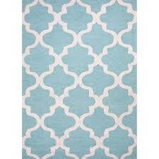 surprising light blue and white rug quatrefoil little crown interiors
