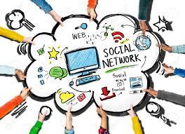 Social Network Social Media People Meeting Teamwork Concept Stock