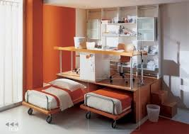 double desk home office with creative orange ikea adjule twin double bed set with over minimalist